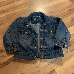 Peek kids jean jacket size XL, 18-24 months